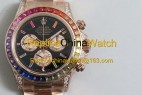 132# JH factory Rolex 116595 RBOW 4130 movement