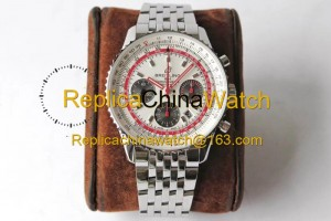 72# BL Factory Breitling Aviation Chronograph 1 AB01219A1G1X1 43mm 7750 movement 316L steel