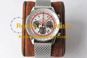 73# BL Factory Breitling Aviation Chronograph 1 AB01219A1G1X1 43mm 7750 movement 316L steel